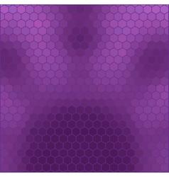 purple honeycomb - abstract geometric hexagon grid vector image vector image
