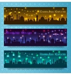 Ramadan kareem banners vector