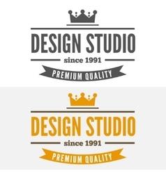 Retro Vintage Insignia or Logotype design vector image