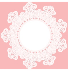 round crochet doily vector image vector image