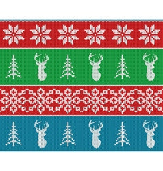 Scandinavian christmas winter seamless knitted vector