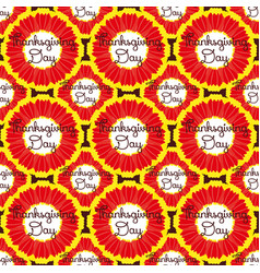 Seamless pattern thanksgiving with flower vector