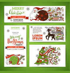 set of corporate christmas templates vector image vector image