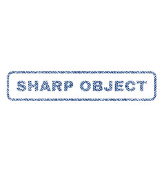 Sharp object textile stamp vector