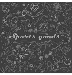 Sport goods line art design vector