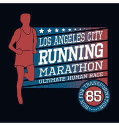 Sport running marathon t-shirt typography graphics vector
