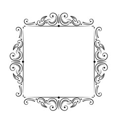 square vintage classic black frame vector image