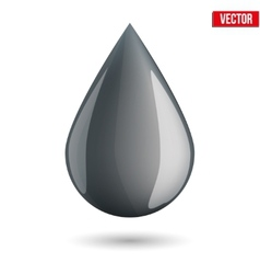 symbol of petroleum black drop vector image vector image