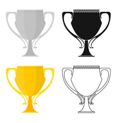 Trophy icon in cartoon style isolated on white vector