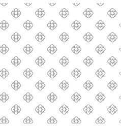 unique digital flowers seamless pattern with vector image