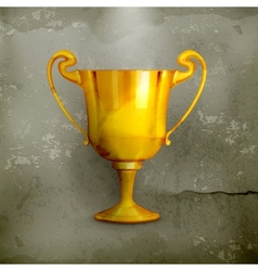 Gold trophy old-style vector image