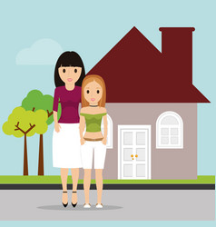 Women family home estate image vector