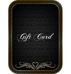Gift card black 1 vector