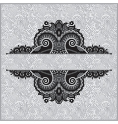 grey vintage floral ornamental template on flower vector image