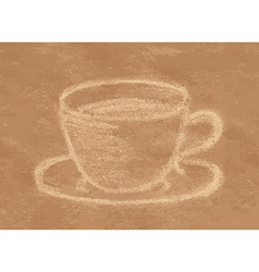 Coffee chalk vector