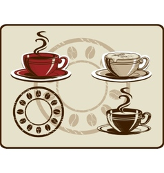 Coffee cup set vector