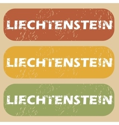Vintage liechtenstein stamp set vector