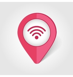 Wi-fi map pin icon vector