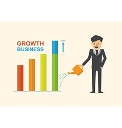 Growth business concept vector