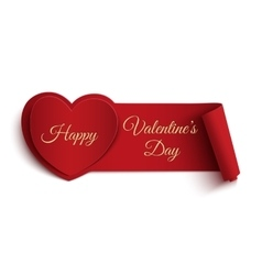 Happy valentines day banner vector