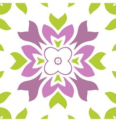 Colored seamless floral pattern vector