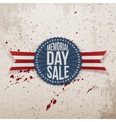 Memorial day sale national banner with text vector