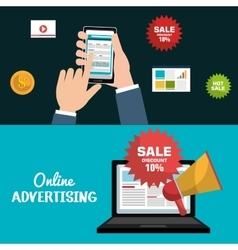 Online advertising design vector