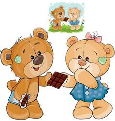 a brown teddy bear sweet vector image vector image