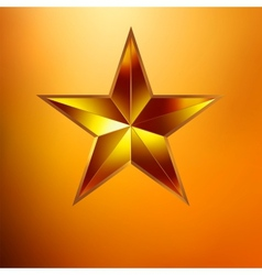 a Gold star on gold vector image vector image