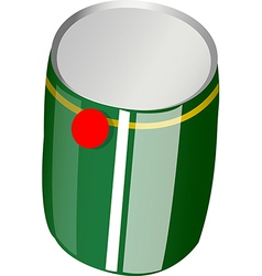 A view of a can vector image vector image