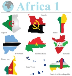 Africa Collection 1 vector image