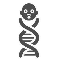 Baby genes flat icon vector