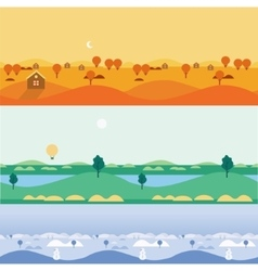 Background seamless landscapes autumn summer vector