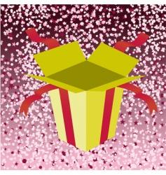 birthday gift box vector image vector image