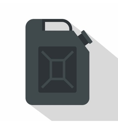 Black jerrycan icon flat style vector image vector image