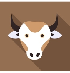 Cow icon flat style vector