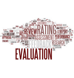 Evaluation word cloud concept vector