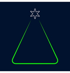 greeting card - simple Christmas green tree vector image
