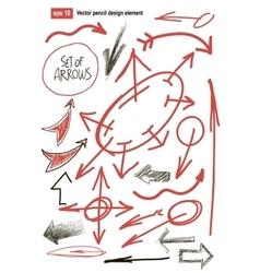 Hand drawn arrows set business design element vector