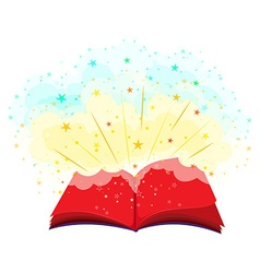 Open book full of magic vector