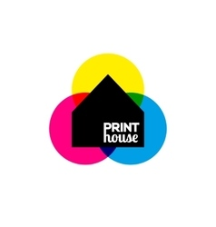 Printing icon print-house ink symbol design vector