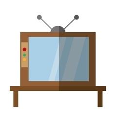Retro television antenna wooden shadow vector
