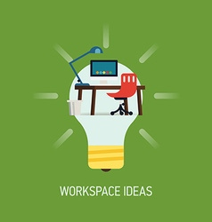 Room Ideas for a Workspace vector image