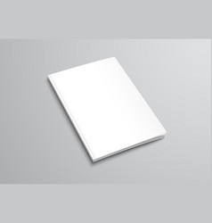 template of white blank brochure on gray vector image