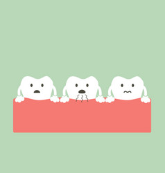 tooth is halitosis vector image vector image