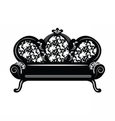 Vintage baroque sofa round shaped vector