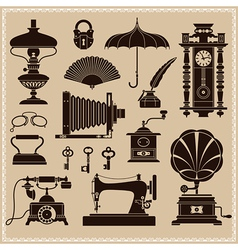 Vintage Ephemera and Objects vector image vector image