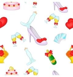 Wedding pattern cartoon style vector