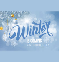 winter is coming vector image vector image