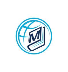 World education letter m vector